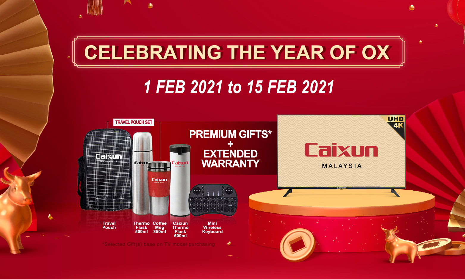 Celebrating the YEAR OF OX with Caixun Malaysia