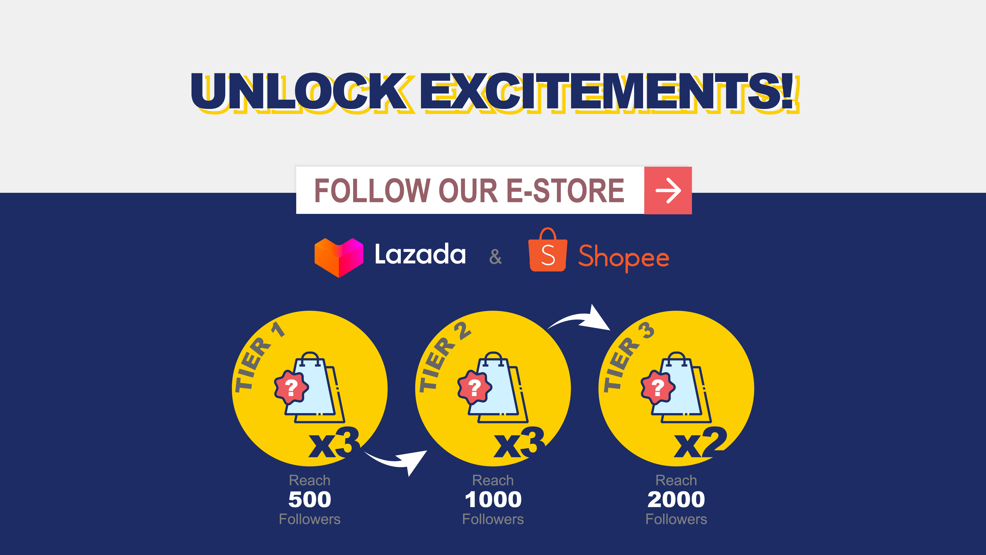 Follow Caixun E-stores and stand a chance to win BIG vouchers!