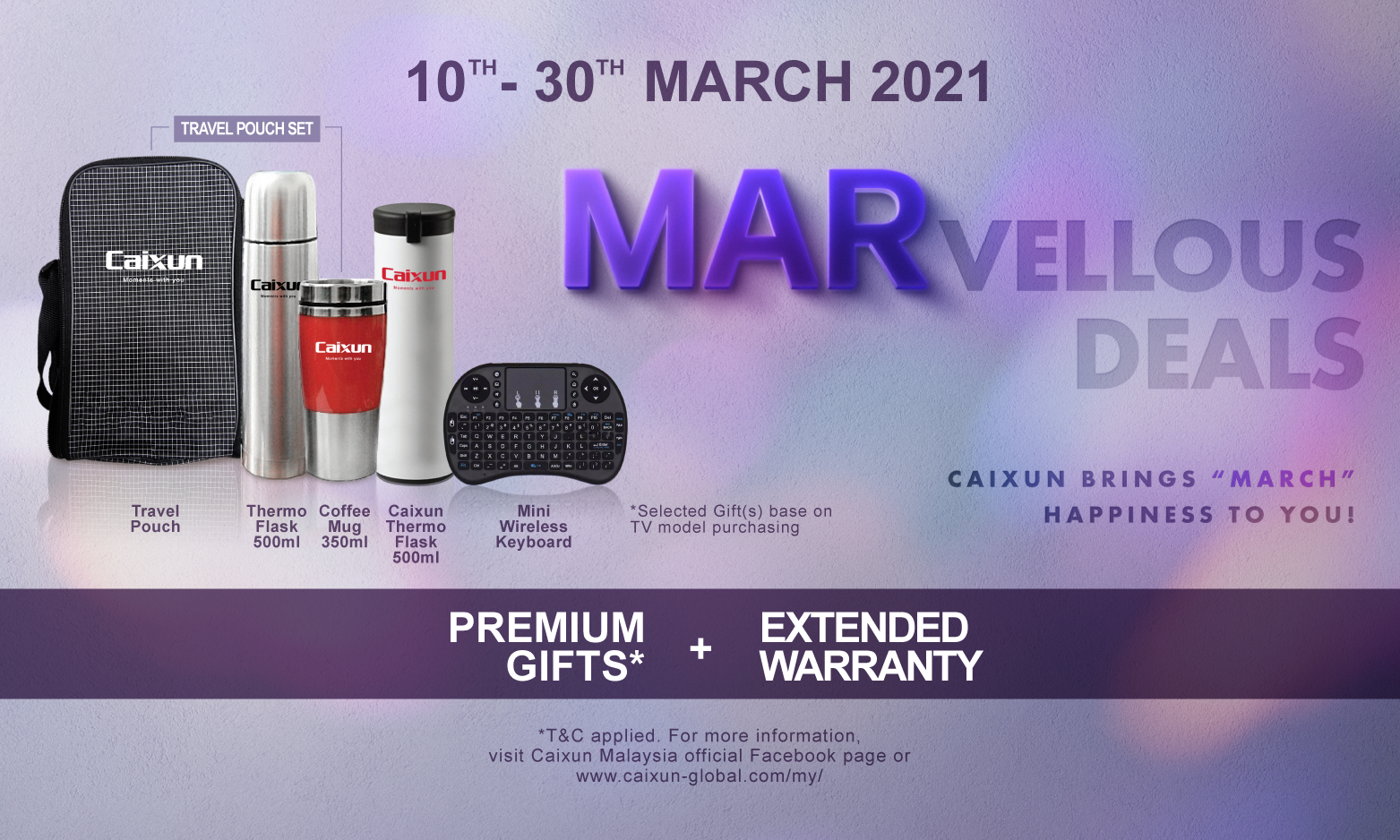 Enjoy MARellous Deals from Caixun Malaysia!  (How To Redeem & Campaign Full Terms and Conditions)