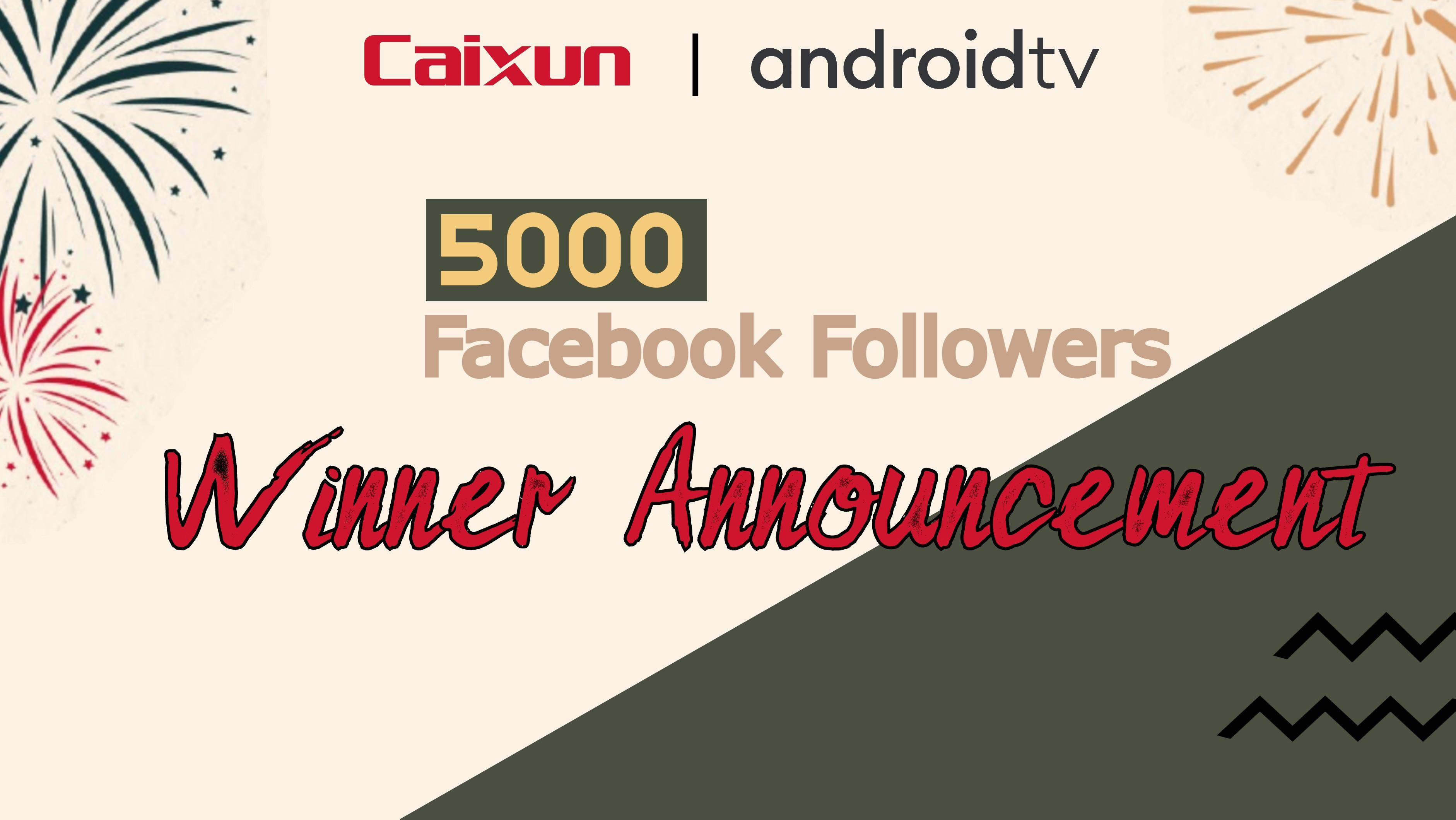 Caixun Malaysia 5K Facebook Followers Giveaway Campaign 2021 : Winner Announcement