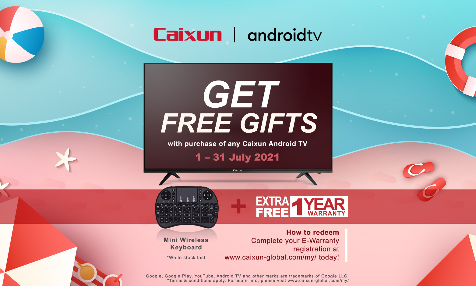June-July Promotion from Caixun Malaysia!