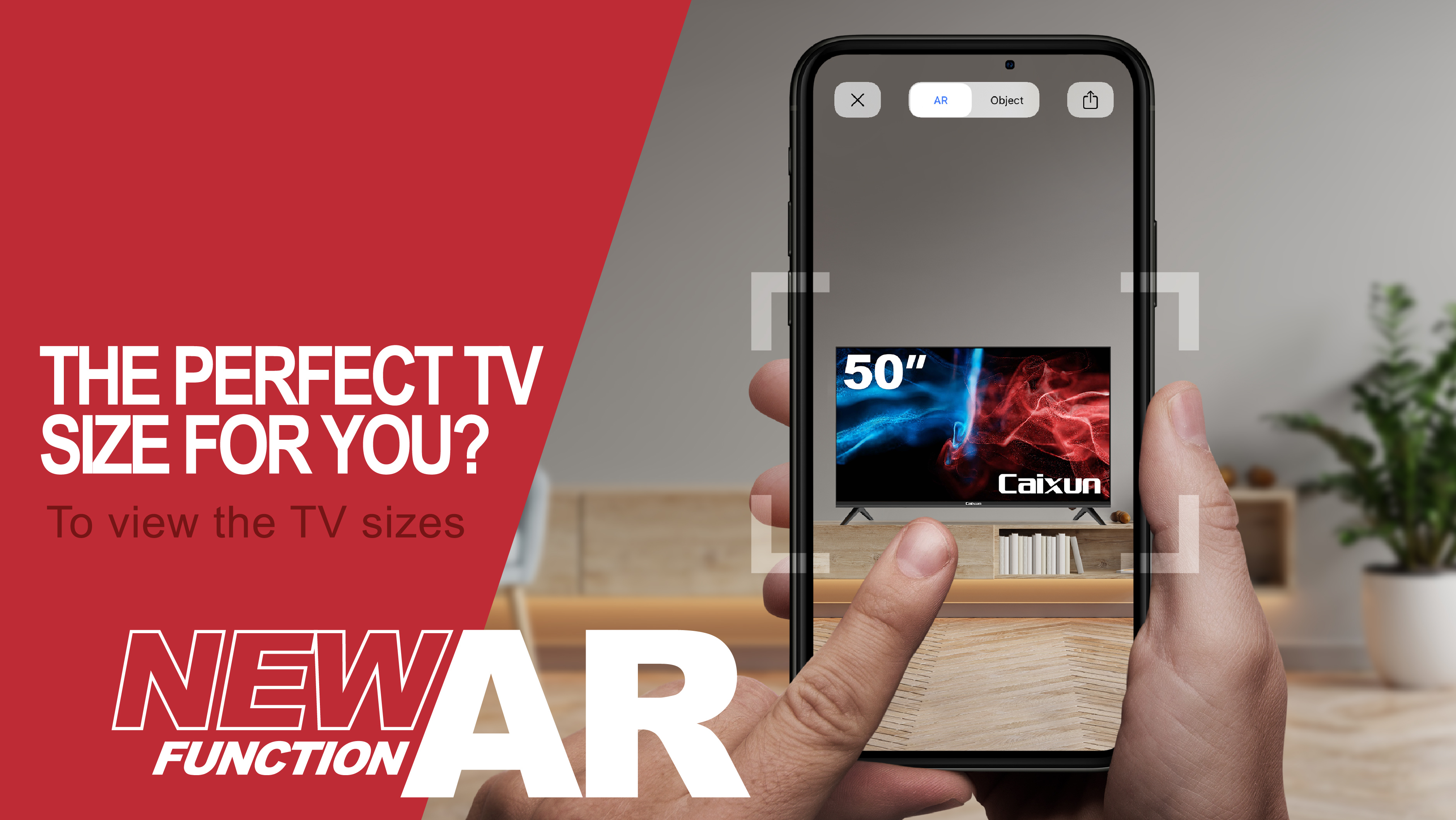 The Perfect TV Size For You? Caxiun New AR Function