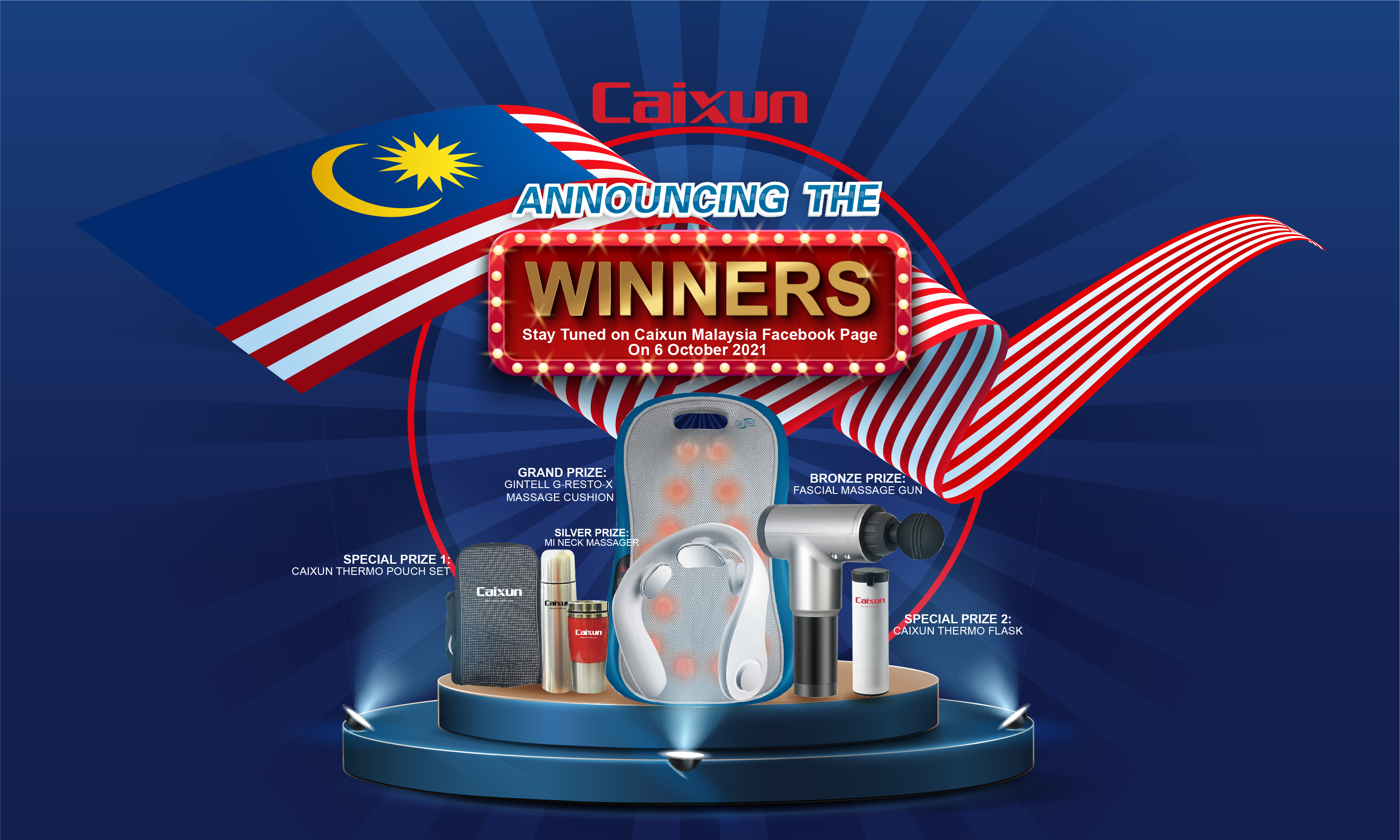 """Caixun Malaysia """"64th Merdeka Special"""" Lucky Draw Campaign : Winner Announcement"""