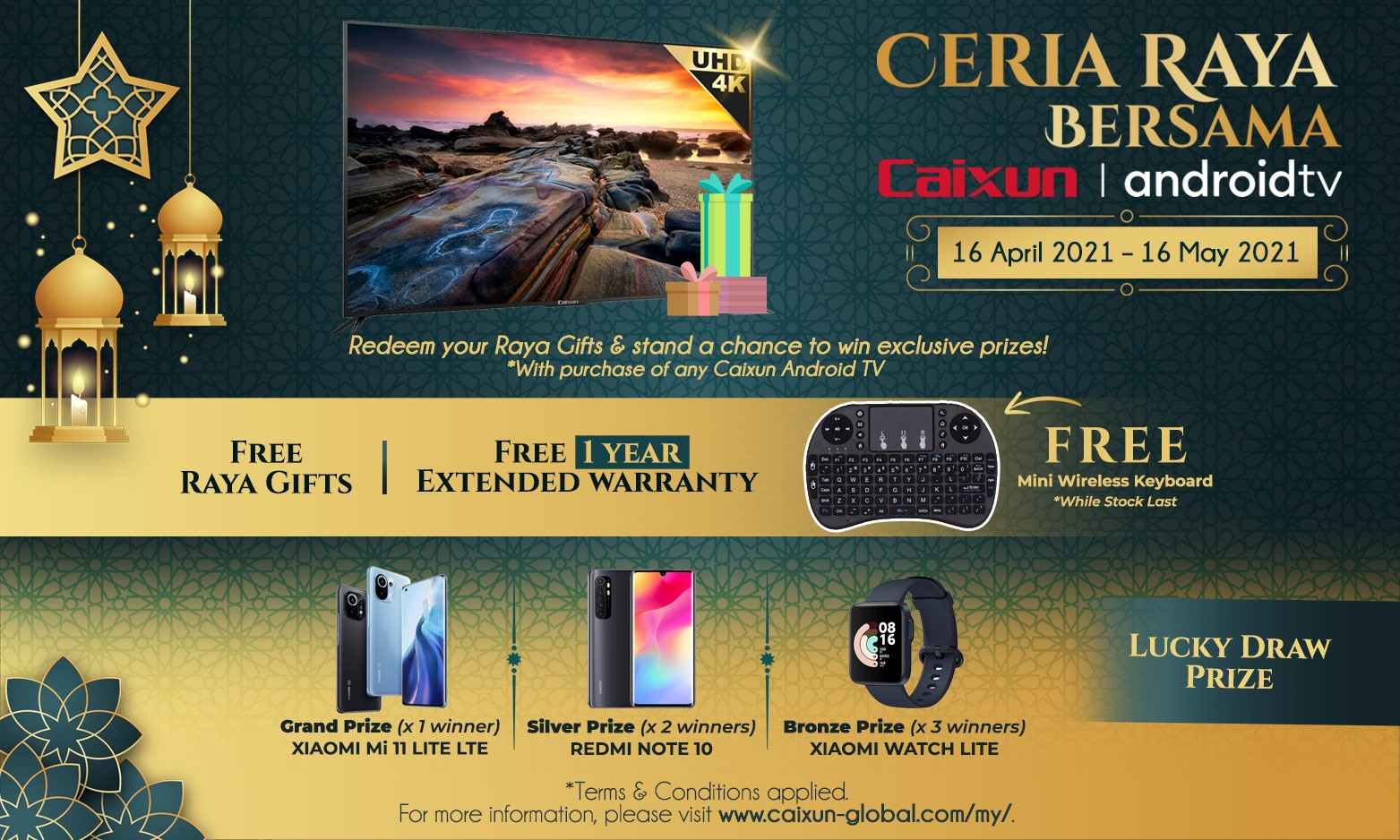 Ceria Raya bersama Caixun Malaysia!